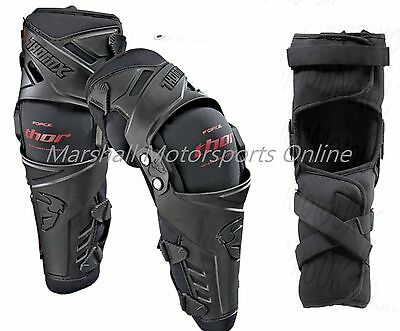 thor racing force knee guards brace pivot system black mens adults L/XL/2XL