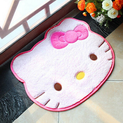 Cute Hello Kitty Anti-slip Mat Carpet Bathroom Floor Room Doormat Plush Rugs