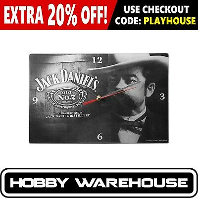Jack Daniel's Cameo Glass Clock