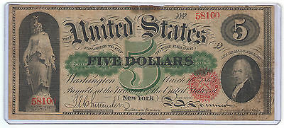 FR. 61a 1862 $5 FIVE DOLLARS LEGAL TENDER UNITED STATES NOTE RARE FIND