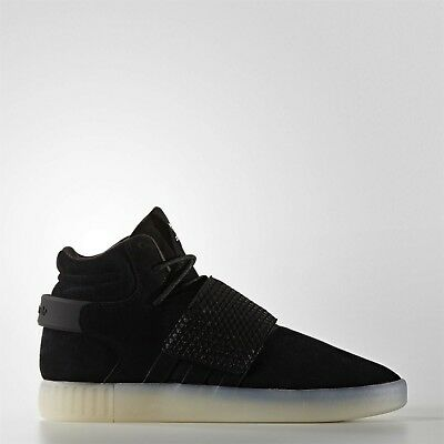 competitive price c6ce9 7422b Mens Adidas Originals Tubular Invader Strap Shoes 10.5 Black White Suede  BB5037