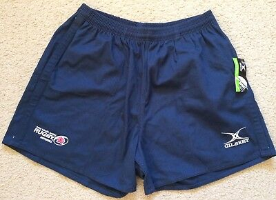 """NWT NSW Referees Association Rugby Union Shorts Heavy Blue Cotton Mens XL 38"""""""