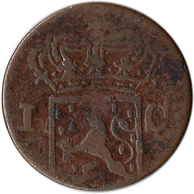 1837 Netherlands East Indies - Sumatra 1 Cent Coin KM#290