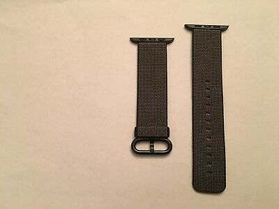 OEM Authentic Genuine Apple Woven Nylon for Apple Watch 42mm Black MM9Y2AM/A