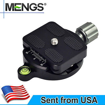 MENGS DM-55A Quick Clamp+Quick Release Plate Aluminum Compatible With Arca-Swiss