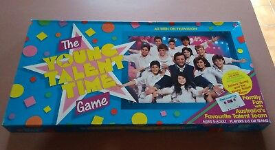 The Young Talent Time Board Game Vintage 1987 COMPLETE