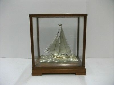 The sailboat of sterling silver of the most wonderful Japan.  Japanese antique.