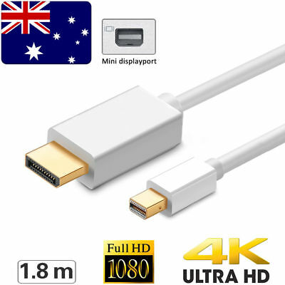 1.8M Mini Display Port DP Thunderbolt to HDMI Adapter Cable for MacBook Pro Mac