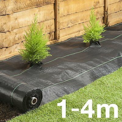 1M / 2M 100gsm Weed Control Fabric Ground Cover Membrane Landscape Garden