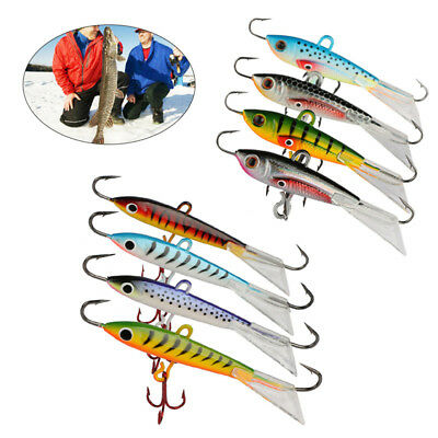 Goture 4pcs Ice Fishing jigs Hard Fishing Lure Lifelike Swimbait Artificial Bait