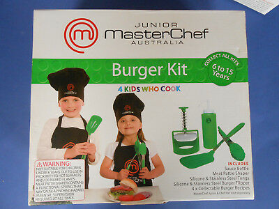 Junior Masterchef Australia - Burger Kit 4 Kids Who Cook **as New
