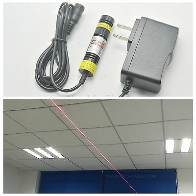 Precision Focusable 650nm 250mw Red Laser Line Module Positioning Light Emitter