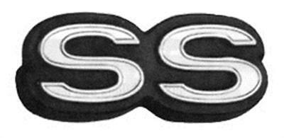 "1968-72 Chevrolet Nova Rear Trim Panel Emblem ""SS"" New Dii"