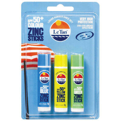 Le Tan SPF 50 + Zinc Sticks Trio 15g