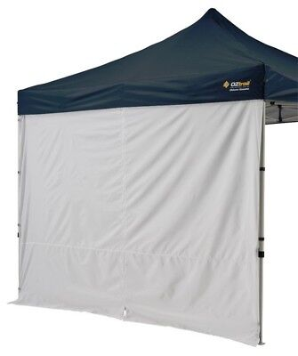OZtrail Gazebo Solid Wall Centre Zip 3x3m Marquee Stall Shade Tent Accessory