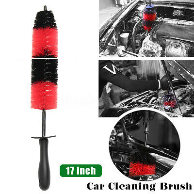43cm Long  Auto Car Wash Brush Engine Grille Wheel Brush Cleaning Detailing Tool