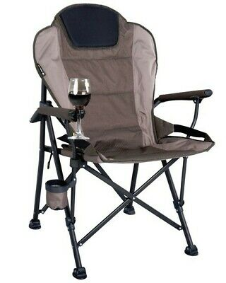 OZtrail Chair Arm RV Drink Wine Holder Organiser Folding Camping Touring Outdoor