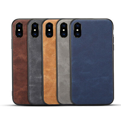 10pcs/lot Slim Vintage Retro Holster PU Leather Case for iPhone X