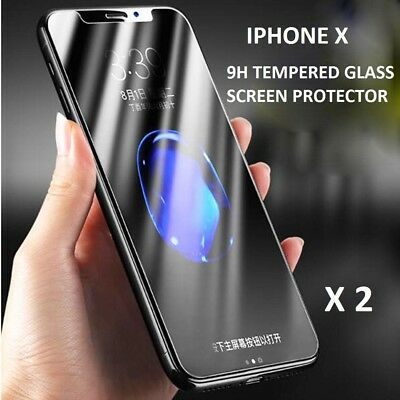 X2 Genuine Gorilla Tempered Glass Touch Screen Protector For Apple iPhone X XS