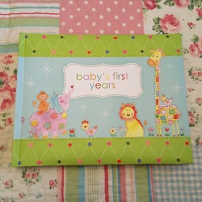 NEW Baby's Record Book Newborn Gift Unisex Photo Baby's First Album