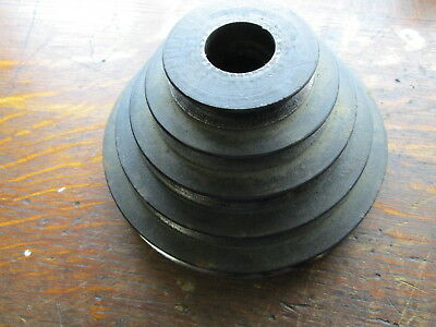 "5 Step Speed  Drill Press Quill Spindle Pulley 2""-5.25"" Tapered Bore 3/8"" Belt"