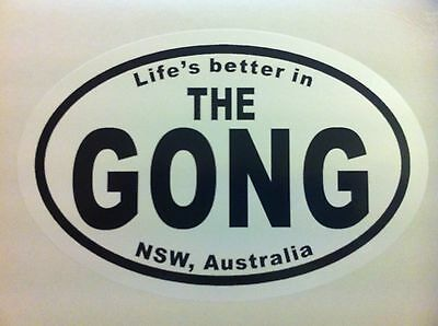 Life's better in THE GONG NSW, Australia - Sticker Car Surfboard