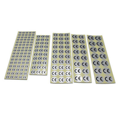 Round Silver CE Pre-Printed Stickers Self Adhesive Labels for Office Factory Use