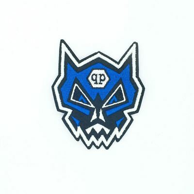 QP Blue Transform Head (Sew On) Embroidery Applique Patch Sew Iron Badge