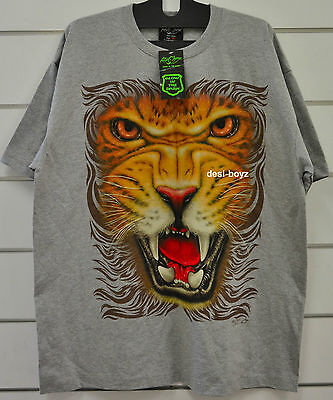 Brand New - Rock Chang Grey Glow in the Dark Tiger Tee T Shirt - Sizes: S, L