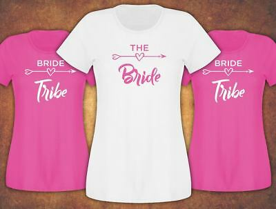 Fast and Free Hen Do Party Bride Tribe 2019 Weeding  T-shirt Ladies Female