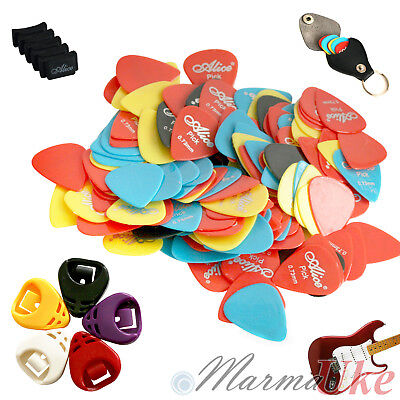 10x 20x 40x Guitar Picks Plectrum - Acoustic Electric with Optional Pick Holders