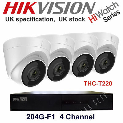 CCTV KIT HIWATCH by HIKVISION DVR 8 Channel 4 or 8x Camera