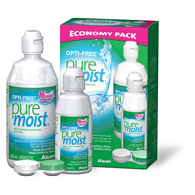 NEW Contact Lens Solution For Soft Contacts Economy 300ml + 90ml