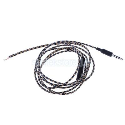 3.5mm DIY Earphone Audio Cable with Mic Repair Replacement Headset Lead 1.2m