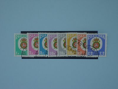 Isle of Man Stamps, 1982, Postage Dues, D17-D24, Used