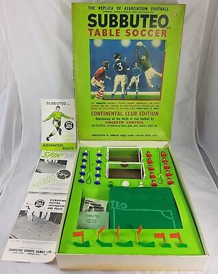 Vintage Subbuteo Continental Club Edition Table Soccer 60's