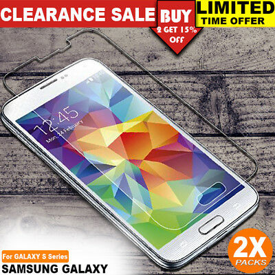 2x Anti Scratch Tempered Glass Screen Protector for Samsung Galaxy S3 S4 S5 S6