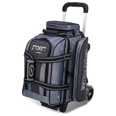 Storm Rolling Thunder 2-Ball Roller Bowling Bag Charcoal Plaid/grey/black