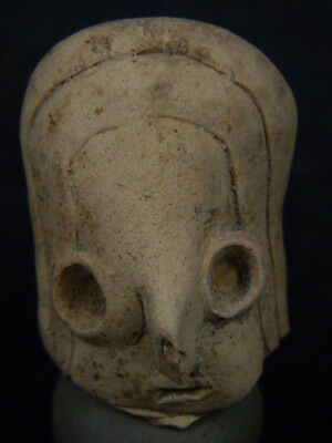 "Ancient Indus Valley Teracotta Head C.2500 Bc   """"r985"""""