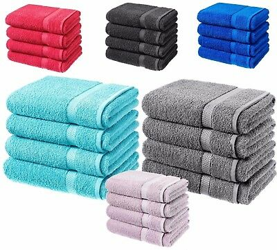 4 x Egyptian Cotton Towels Luxury Bath Sheets Large Soft Guest Hotel 500gsm UK