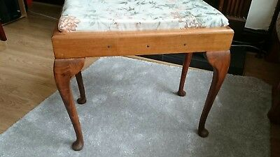 Vintage Dressing Table Stool / Piano Stool solid wood