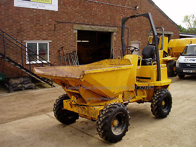 Thwaites 2 Ton Swivel Tip Dumper, Year 2001, LOW 1198 Hours. Fully serviced.