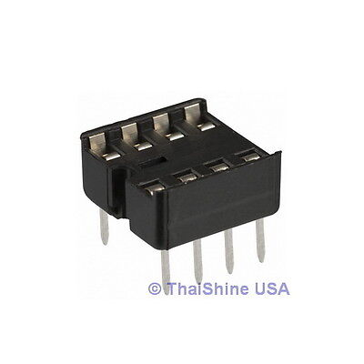 60 x 8 pin DIP IC Sockets Adaptor Solder Type Socket - USA SELLER Free Shipping