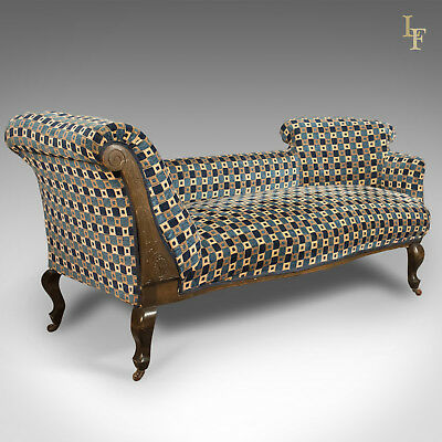 Antique Chaise Longue, Edwardian Day Bed, English, Sofa c.1910