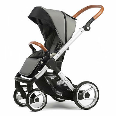Mutsy Evo Urban Nomad Stroller -  Light Grey  with Silver Chassis