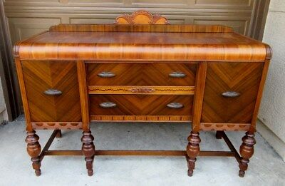 ART DECO SIDEBOARD, c1930s, DINING ROOM SIDEBOARD-**LOCAL PICKUP ONLY**
