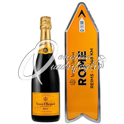 Veuve Clicquot Champagne Brut Connected Arrow Rome Roma Yellow Label
