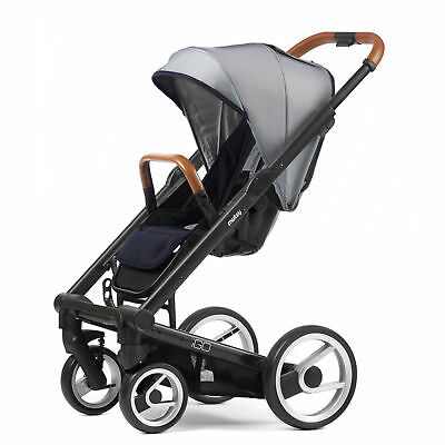 Mutsy Evo Urban Nomad Stroller -  White Blue with Black Chassis