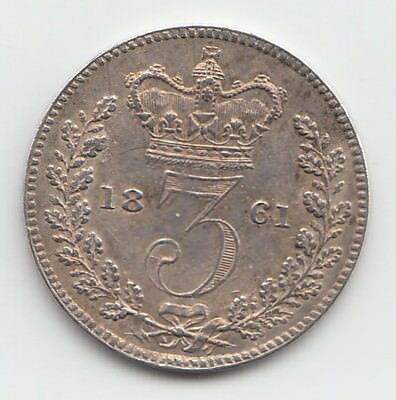 Very Rare Great Britain 1845 Threepence 3d Queen Victoria