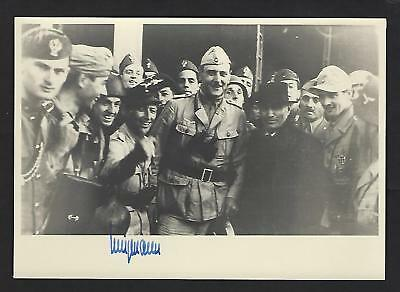 "Robert Wenigmann signed 7""x5"" picture rescued Benito Mussolini"